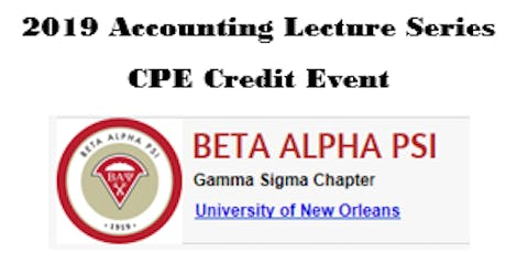 2019 Accounting Lecture Series tickets