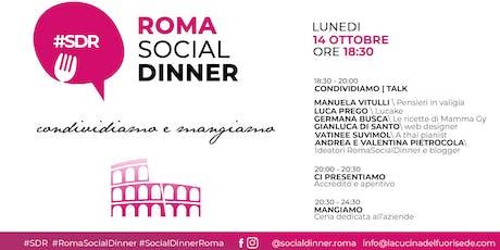 ROMA SOCIAL DINNER biglietti