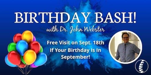 September Birthday Bash - Free Visit!