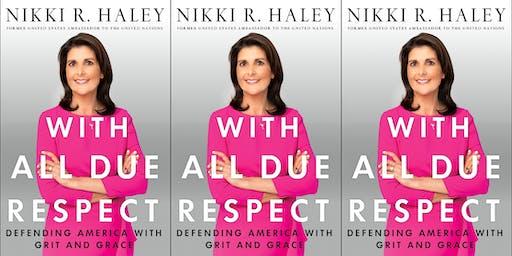 Author event with Ambassador Nikki Haley