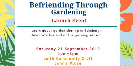 Befriending Through Gardening Launch Event tickets