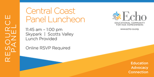 Echo Central Coast Resource Panel Luncheon