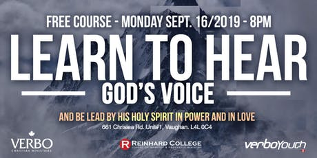 LEARN TO HEAR GOD'S VOICE tickets