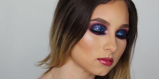 Glitter smokey eyes full color