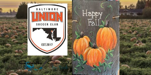 Happy Fall Slate or Canvas Paint Night