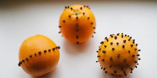 LHS: Orange and Clove Pomanders