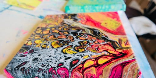 Paint N Sip:Go with the Flow ~ Paint Pouring & Flow Art Painting