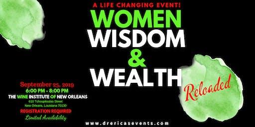 Women, Wisdom, and Wealth Reloaded