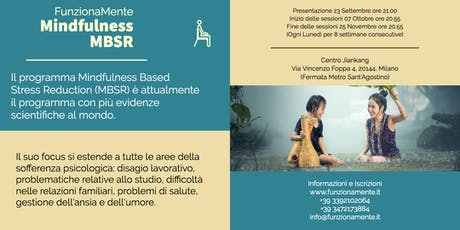 Corso Mindfulness MBSR - Serata di Presentazione Gratuita biglietti
