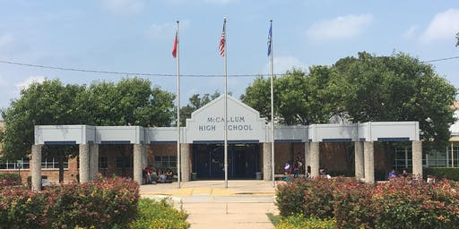 McCallum HS Fine Arts Academy Campus Tours Fall 2019