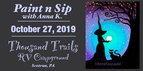 Paint n Sip- Witch's Brew tickets