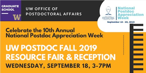 UW Fall 2019 Postdoc Resource Fair and Reception