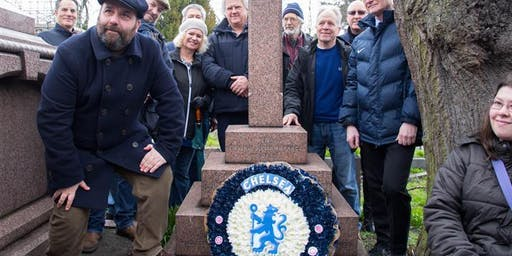 The Final Whistle walk… Chelsea players, directors, and Pensioners in Brompton Cemetery