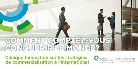 Clinique Innovation sur les stratégies de commercialisation à l'international billets
