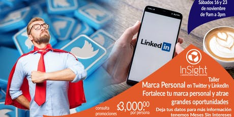 Marca personal en Twitter y LinkedIn boletos