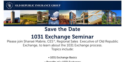 Lunch 'n Learn: 1031 Exchange