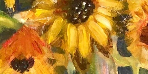 Paint Night - Sunflowers!  relax, paint,  chat, take home your masterpiece!