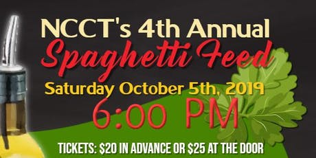 NCCT's 4th Annual Spaghetti Feed Fundraiser tickets
