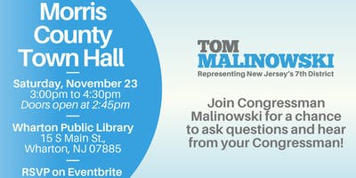 Morris County Town Hall with Congressman Tom Malinowski