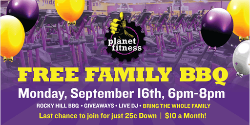Free Family BBQ - Hosted by Planet Fitness