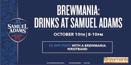 Brewmania: Drinks at Sam Adams tickets