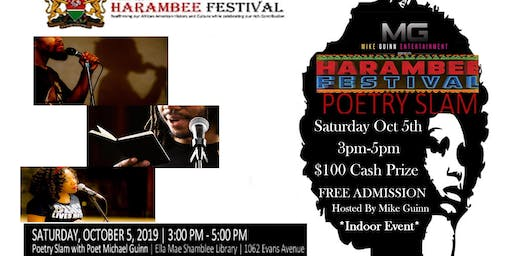 THE 2019 HARRAMBEE FEST POETRY SLAM AND OPEN MIC ($$)