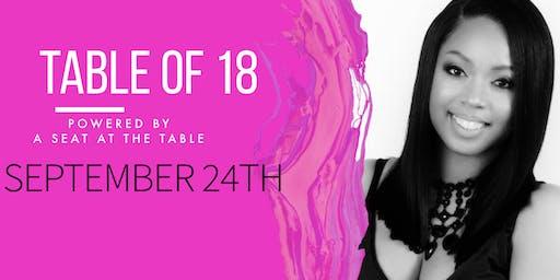 Sabeina Harris presents Table of 18