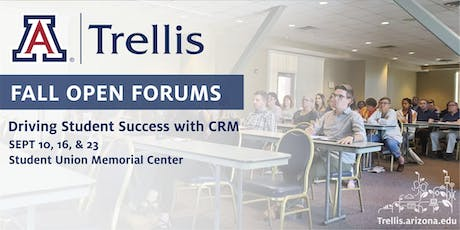 Fall Open Forum: Driving Student Success with Trellis CRM (Sept 16) tickets