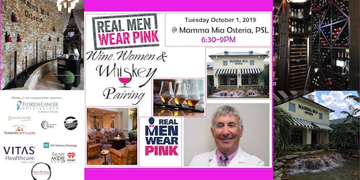 Real Men Wear Pink - Wine, Women & Whiskey Food Pairing Event 5 Course
