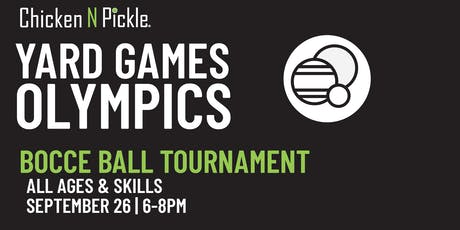 Bocce Ball Tournament tickets