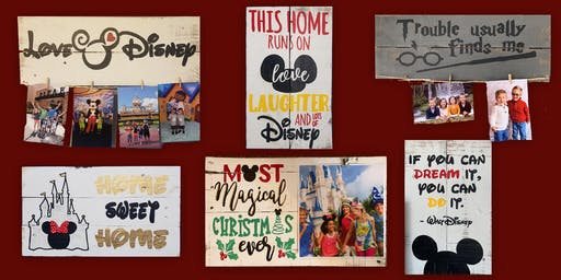 Disney Sign Painting at Springfield 10/26