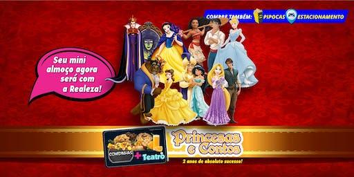 Desconto: Comidinhas + Teatro: Princesas e Contos, no Teatro BTC