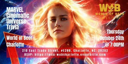 Marvel Cinematic Universe Trivia at World of Beer Charlotte