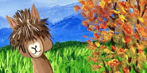 Alpaca Paint and Sip