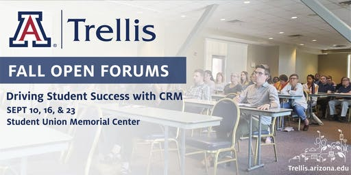 Fall Open Forum: Driving Student Success with Trellis CRM (Sept 23)