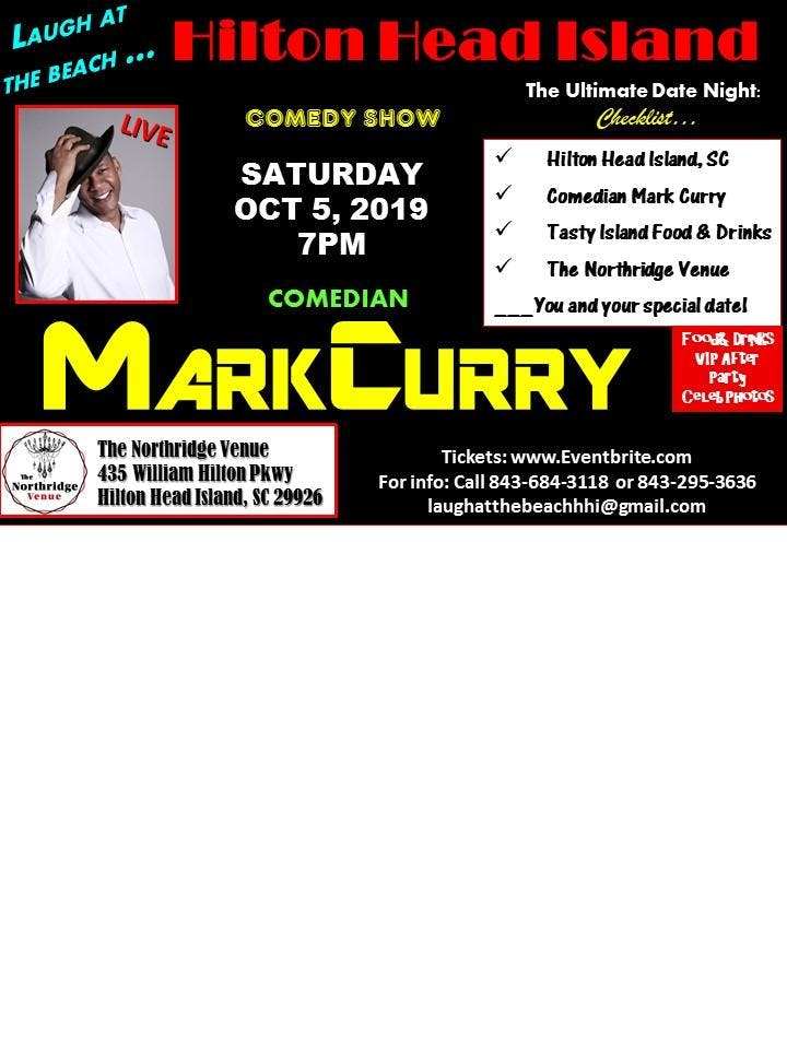 Laugh at the Beach Hilton Head Island with Comedian Mark Curry