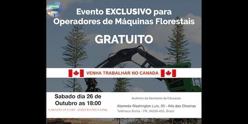 Telêmaco Borba - Precisamos de operadores de Fowarder e Harvester com experiencia para atuar no Canada