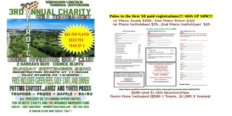 3rd Annual AFJRTOC Charity Golf Tournament tickets