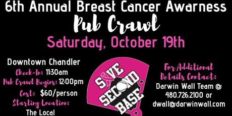 6th Annual Save Second Base Pub Crawl tickets
