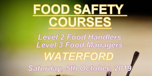 Food Safety Course FSAI Level 3 for Managers