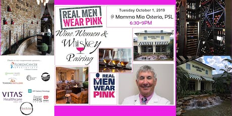 Real Men Wear Pink - Wine, Women & Whiskey Food Pairing Event  3 Course tickets