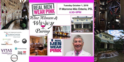 Real Men Wear Pink - Wine, Women & Whiskey Food Pairing Event  3 Course