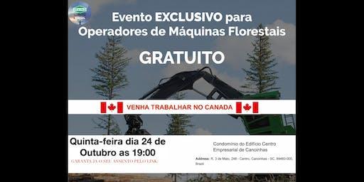 Canoinhas - Precisamos de operadores de Fowarder e Harvester com experiencia para atuar no Canada