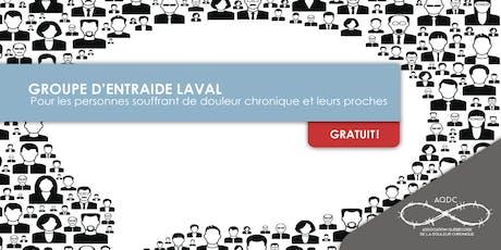 AQDC - Groupe d'entraide Laval - 22 octobre 2019 billets