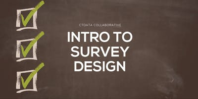 Intro to Survey Design