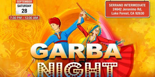 Garba Night -Dandiya, GarbaRaas, Navratri Celebration in Lake Forest