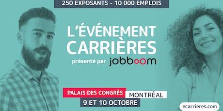 L'ÉVÉNEMENT CARRIÈRES - SALON EMPLOI ET FORMATION CONTINUE billets