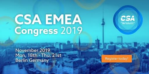CSA EMEA Congress 2019