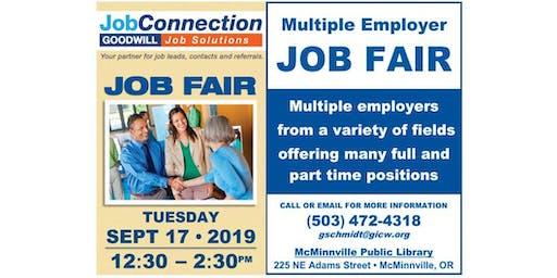 Job Fair - McMinnville - 9/17/19
