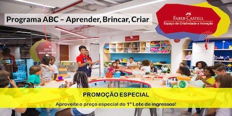 Programa ABC – Aprender, Brincar, Criar ingressos